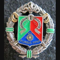 1° REC : insigne métallique du 1° régiment étranger de cavalerie de fabrication Delsart H. 162