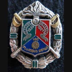1° REC : insigne métallique du 1° régiment étranger de cavalerie de fabrication Balme Saumur