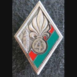 4° REI : insigne métallique du 4° régiment étranger d'infanterie réalisé par Balme Saumur G. 2816