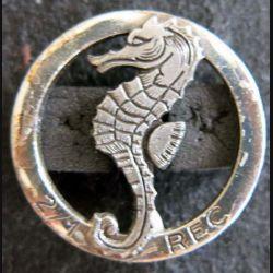 1° REC  : Insigne métallique du 2° escadron du 1° Régiment étranger de cavalerie A.B Paris