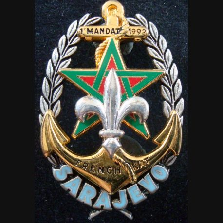 Régiment d'infanterie chars de marine 1° mandat à Sarajevo 1992 Drago