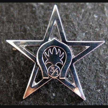 1° REC  : Insigne métallique du 3° escadron du 1° Régiment étranger de cavalerie A.B chromé