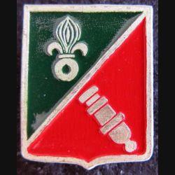 1° REC : insigne peloton obusier 1° groupement amphibie du 1°REC  Drago Paris métal peint