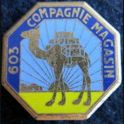 603° CM : insigne métallique de la 603° compagnie magasin Drago Paris G. 1181