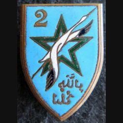 2° DIM : insigne métallique de la 2° division d'Infanterie marocaine de fabrication Drago Déposé en émail