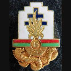 13° DBLE : 13° demi brigade de la légion étrangère Arthus Bertrand Paris H. 119 en émail