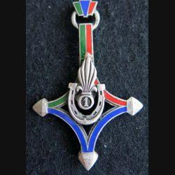 1° ESPLE : Insigne métallique du 1° escadron saharien porté de Légion Étrangère de fabrication Drago Paris