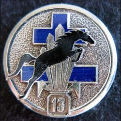 13° DBLE : insigne métallique de l'escadron de reconnaissance de la 13° demi brigade de la légion étrangère LR Paris