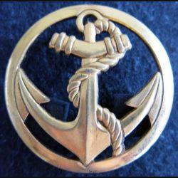 TDM : Insigne béret troupes de Marine de fabrication Béraudy Vaure 4,4 cm