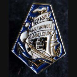 33° RIMA : insigne métallique en réduction  du 33° régiment d'infanterie de Marine Y.B 2001