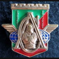 17° RGP: insigne de la compagnie d'appui du 17° régiment du génie parachutiste bronze massif boléro rond