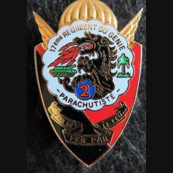 17° RGP: insigne de la 2° compagnie du 17° régiment du génie parachutiste Delsart