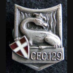 CEC 129° RI : insigne métallique du centre d'entrainement commando 129° RI de fabrication Drago G. 2526 émail