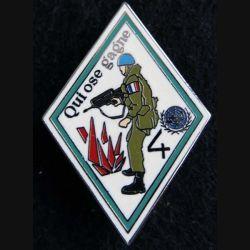 1° RD : insigne métallique du 1° escadron du 1° régiment de dragons 4° Cie FORPRONU Ballard