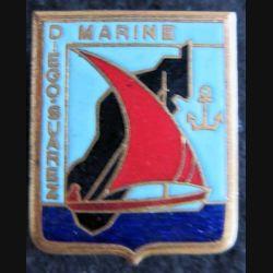 MARINE : Insigne métallique de la Marine à Madagascar Drago Paris en émail