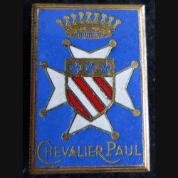CHEVALIER PAUL : insigne métallique de l'escorteur d'escadre  Chevalier Paul fabrication Courtois en émail