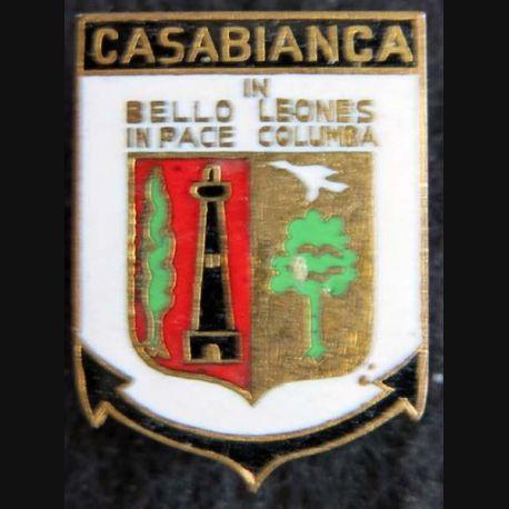CASABIANCA : insigne métallique de l'escorteur d'escadre Casabianca fabrication Arthus Bertrand en émail