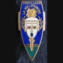 LA MELPOMENE : insigne métallique du torpilleur La Melpomène Arthus Drago Paris en émail