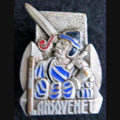 LANSQUENET : insigne métallique du patrouilleur Lansquenet de fabrication Drago Olivier Métra Déposé en émail