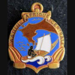 MARINE AFRIQUE CENTRALE : insigne métallique de la marine en Afrique centrale Courtois Paris