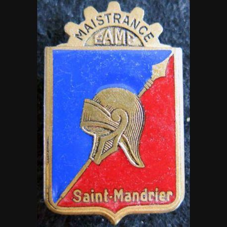 E.A.M.F : insigne métallique de l'école de maistrance de Saint-Mandrier Drago Paris en émail