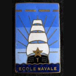 ÉCOLE NAVALE : insigne métallique de l'école navale Arthus Bertrand Paris déposé en émail