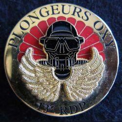13° RDP : insigne métallique 2° escadron du 13° régiment de dragons parachutistes plongeurs OXY LR Paris