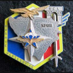 1° RCP : insigne du 1° régiment de chasseurs parachutistes SFOR UCL n° 345