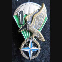 1° RCP : insigne de la 1° compagnie du 1° régiment de chasseurs parachutistes Kosovo n° 061