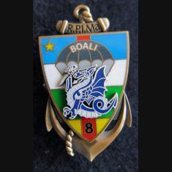 8° RPIMA : insigne du 8° régiment parachutiste d'infanterie de marine Boali RCA Segalen N° 035