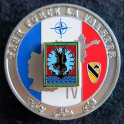 11° DP : insigne de la 11° division parachutiste Task force La Fayette IV Ségalen