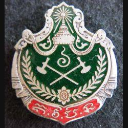 CAMBODGE : Insigne métallique des eaux et forêts émail Drago Paris