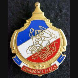 CAMBODGE : Insigne métallique de la mission d'aide militaire au Cambodge Drago Paris G. 4176