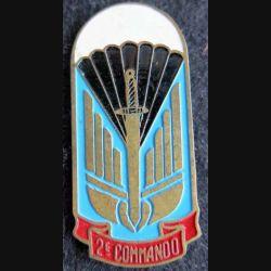 2° COMMANDO : insigne métallique du 2° commando (Force 136) fabrication locale