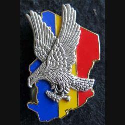 ÉPERVIER : insigne métallique en 2 pièces de l'opération Épervier de fabrication Y.Boussemart