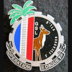 GSL 3° ET : Insigne métallique du 3° ET du Groupe de soutien logistique de l'opération DAGUET DELSART