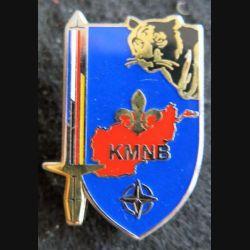 KMNB BFA : insigne métallique de la Kaboul multinational Brigade de la brigade Frano allemande de fabrication GLF