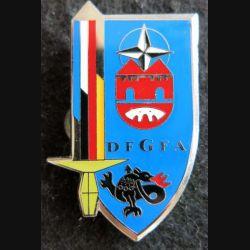 BFA DFGFA : insigne métallique de la DFGFA IFOR de la brigade Franco-allemande de fabrication Frank Hummel