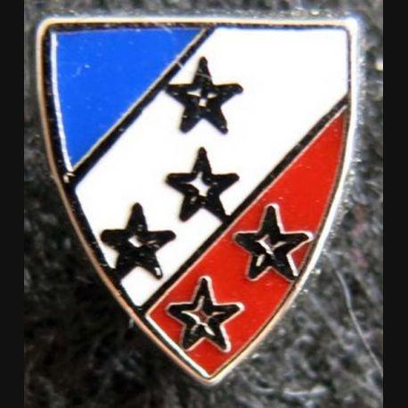 1° ARMÉE : insigne métallique en réduction type pin's de la 1° armée de fabrication Ballard 12 x 14 mm