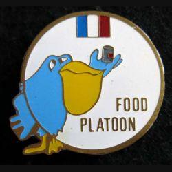 420° DSL : insigne métallique Food Platoon du 420° DSL de la FINUL de fabrication locale