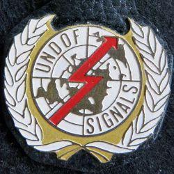 UNDOF SIGNALS : insigne métallique de l'élément de signalisation(Canadien) de fabrication locale
