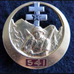 541° AV : insigne métallique de la 541° ambulance vétérinaire de fabrication Drago G. 415