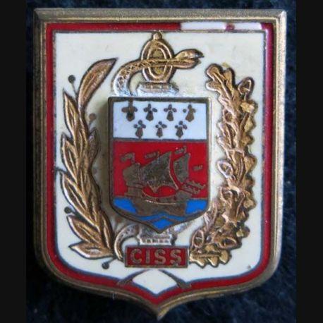 CISS : insigne métallique du centre d'instruction du service de santé des auxiliaires de fabrication Drago G. 2336