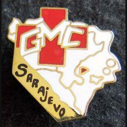 GMC SARAJEVO : insigne métallique du groupe médico chirurgical Sarajevo 1995 de fabrication Destrée émail