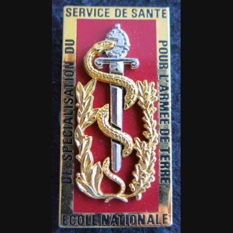 ENSSSAT  : insigne métallique de l'école nationale spécialisation service de santé armée terre de fabrication Boussemart G. 3377