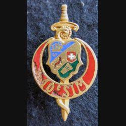 10° SIM : insigne métallique de la 10° section d'infirmiers militaires de fabrication Drago Paris H. 685 en émail