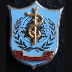 SSA FINUL  : insigne métallique du service de santé au Liban FINUL de fabrication Delsart