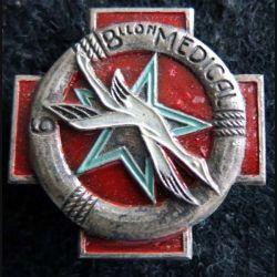 9° BM : insigne métallique 9° bataillon médical de fabrication Drago Béranger déposé émail