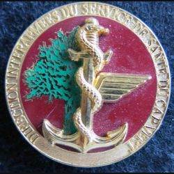 DISS CV : Insigne métallique de la direction interarmées service de santé CAP VERT Boussemart G. 4797