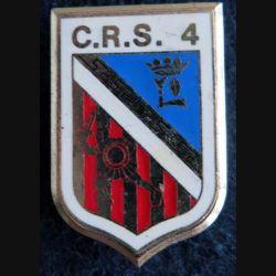CRS 4 : insigne de la compagnie républicaine de sécurité n°4 de fabrication Delsart